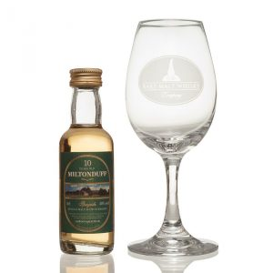 Miniature and Crystal Glass Gift set (Miltonduff)