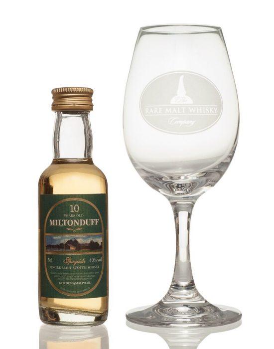 Miniature and Crystal Glass Gift set (Miltonduff)
