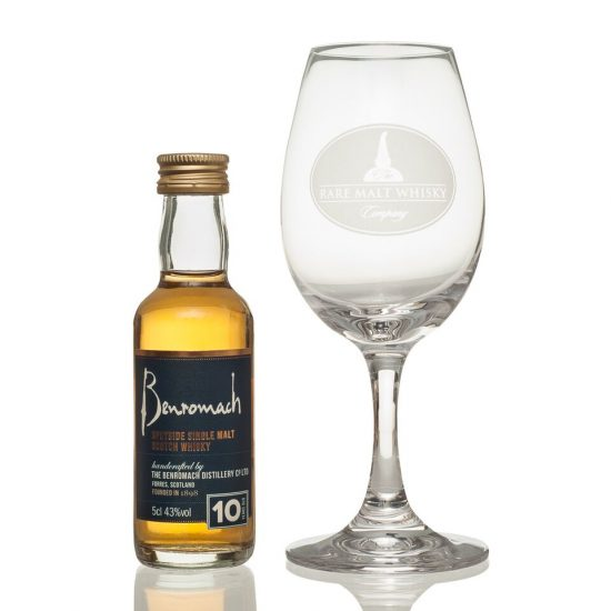 Miniature and Crystal Glass Gift Set (Benromach)