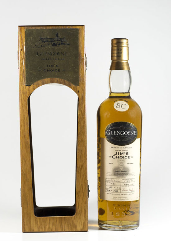 Bottle of Glengoyne Jim's Choice Single Cask Whisky