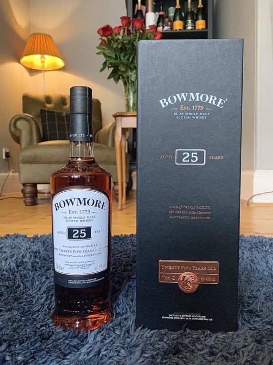 Bottle of Bowmore 25 Year Old Whisky