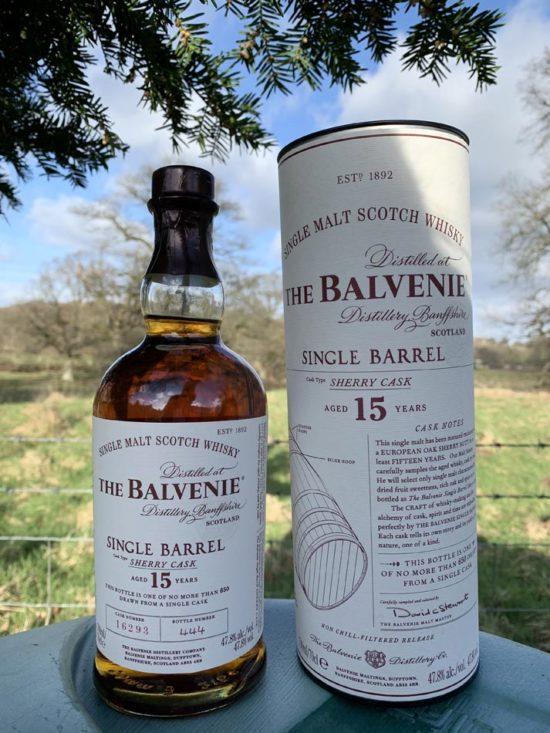 Bottle of Balvenie Single Barrel Sherry Cask Whisky